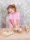 Набор кукольной мебели для домика